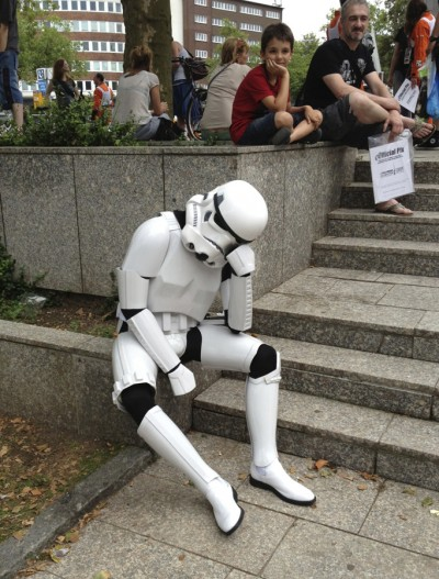 Tired Stormtrooper.