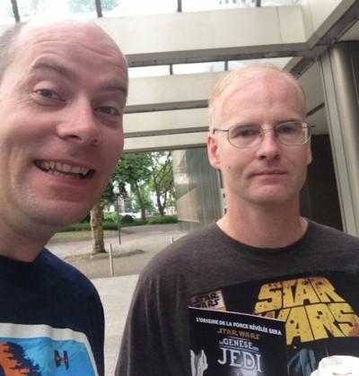 Star Wars fans Joel and Sean Welch.