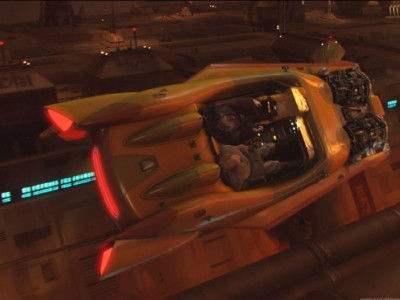 "Anakin and Obi-Wan ""borrow"" Greyshade's luxury speeder."