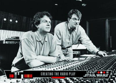 Creating the Radio Play - Topps Star Wars Illustrated Trading Card