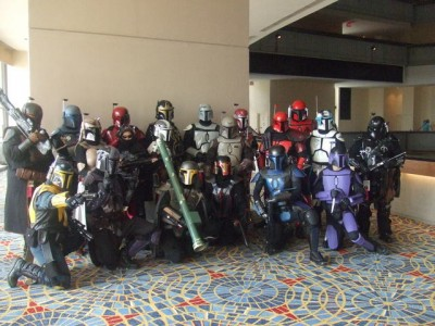 Early Mercs members from across the US and Canada at DragonCon in Atlanta