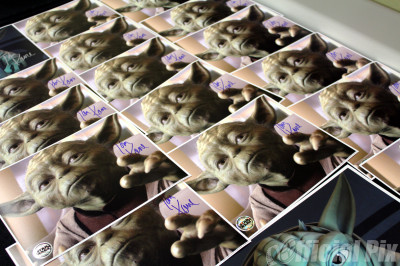 Tom Kane-signed Yoda pictures