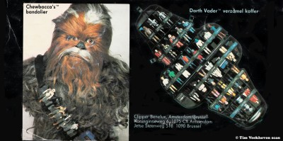 Chewbacca and Darth Vader toy cases