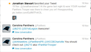 Panthers RB Jonathan Stewart tweets about Star Wars Panthers Trooper