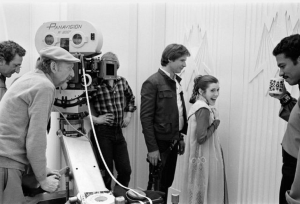 The Empire Strikes Back cast on set
