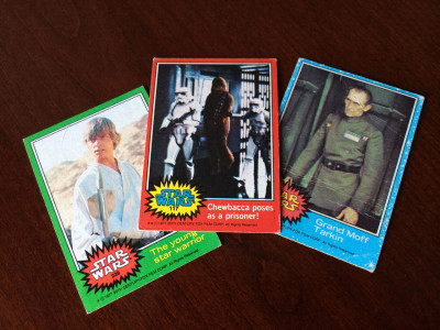 Vintage Star Wars trading cards