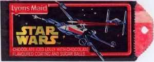 Star Wars Lyons Maid chocolate ice lolly
