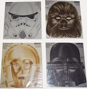 Star Wars masks from Lyons Maid