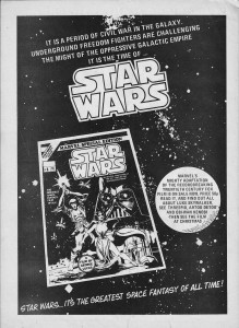An advertisement for Marvel's Star Wars adaptation
