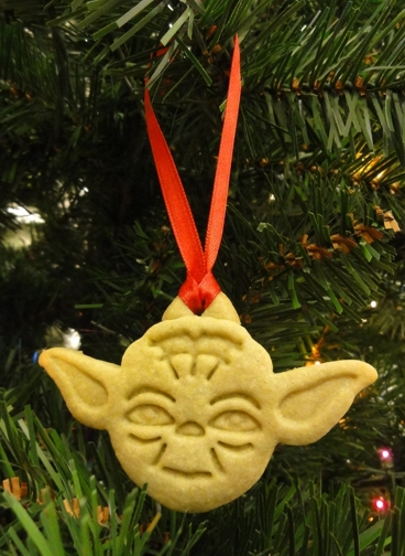 Yoda cookie ornaments