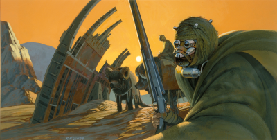 Tusken Raiders concept art by Ralph McQuarrie