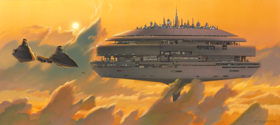 CLoud City concept art by Ralph McQuarrie