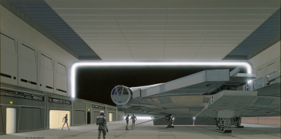 Death Star hangar concept art by Ralph McQuarrie