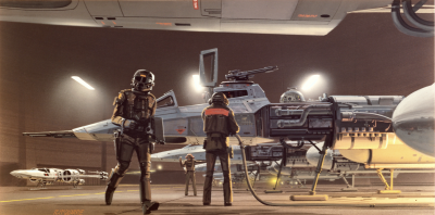 Y-wing concept art by Ralph McQuarrie