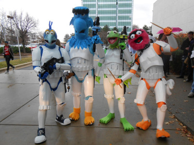 Muppet Troopers in Detroit, Michigan