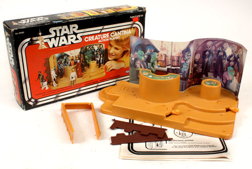Tatooine Creature Cantina Vintage Star Wars Lever Rubber Band Playset Part