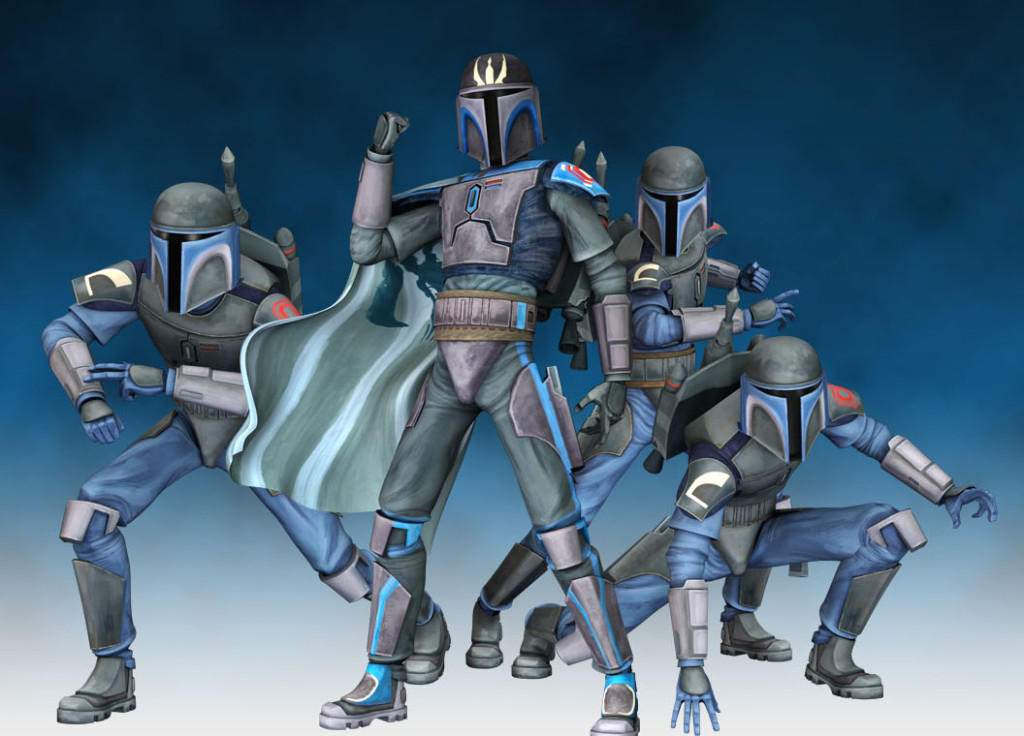 Mandalorian Death Watch in modern Supercommando armor.