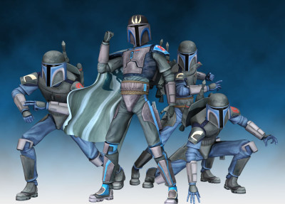 Mandalorian Death Watch in modern Supercommando armor