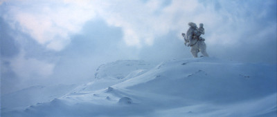 Han and his tauntaun on Hoth
