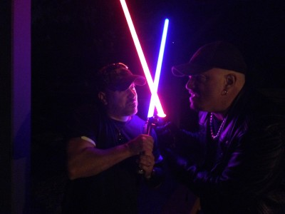 Dax and Rictor lightsaber duel