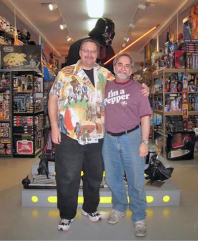 Jerry Treiber and Steve Sansweet during a visit to Rancho Obi-Wan about four years ago