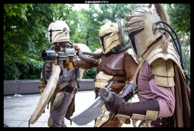 The armor of early Mandalorian Crusaders. (Photo by Matt Zeher)