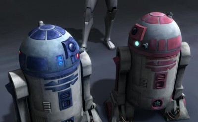 R2-D2 and R2-KT in the Clone Wars feature film