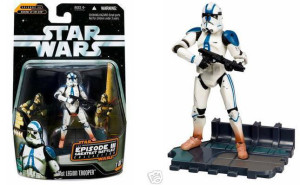 Hasbro Star Wars 501st clone trooper figure from 2006