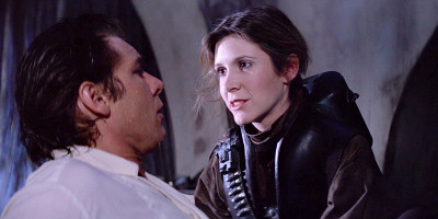 Leia frees Han from carbonite in Return of the Jedi