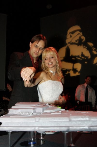 Star Destroyer wedding cake