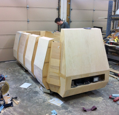 Daren Murrer building the Rebel Troop Carrier