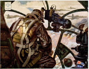 Interior of the bomber gunner, and inspiration for the Millennium Falcon's gun port