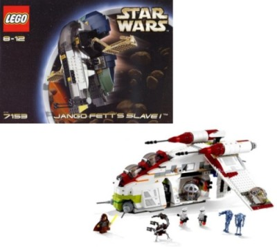LEGO Star Wars Slave I and Clone Gunship