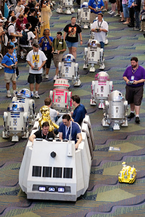 R2 Builders and the Rebel Troop Carrier at Celebration V