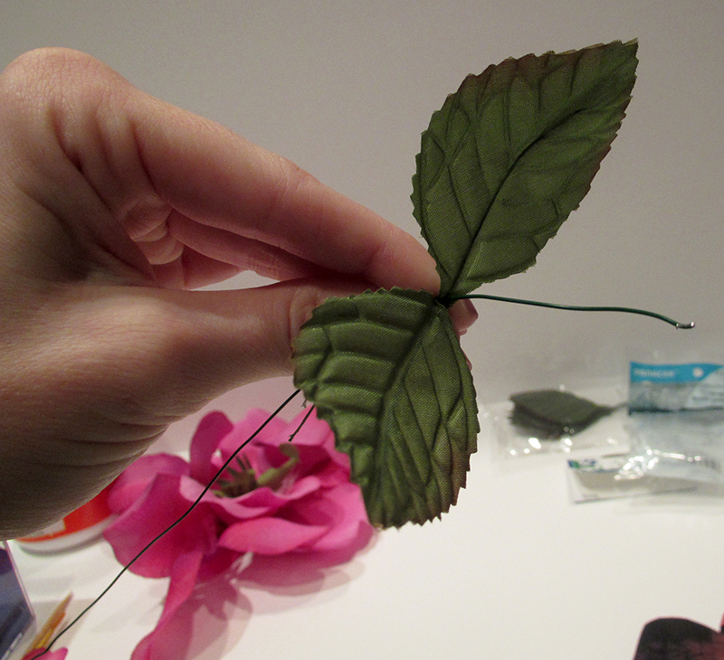 How to make a star wars paper rose starwars paper rose adding leaves to wire mightylinksfo