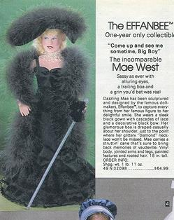 Sears Wish Book Catalog - Mae West doll
