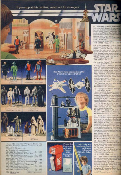 Star Wars in the Sears Wish Book