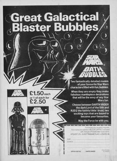 Star Wars Bubble Bat UK ad
