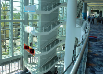 Stairs in the Anaheim Convention Center, site of Star Wars Celebration 2015