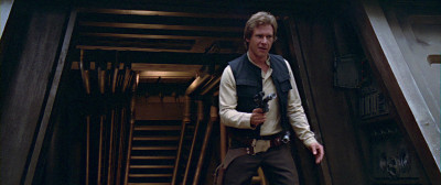 Han Solo at the shield bunker in Return of the Jedi, a scene similar to The Guns of Navarone