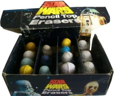 Star Wars pencil-top erasers by Helix