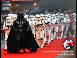 Darth Vader and Stormtroopers from the 501st at a UK event