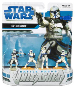 Star Wars Unleashed Battle Packs - 501st Legion clone troopers