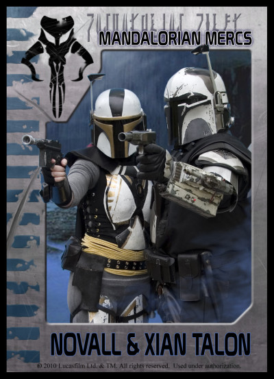 Mandalorian Mercs fan group trading card