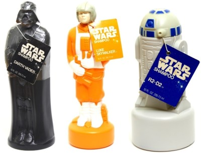 Star Wars shampoo bottles