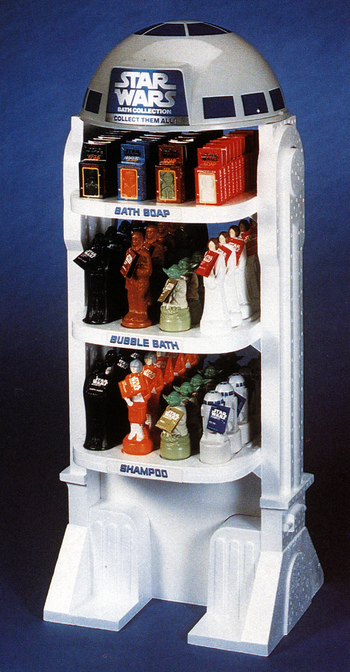Star Wars bath products display