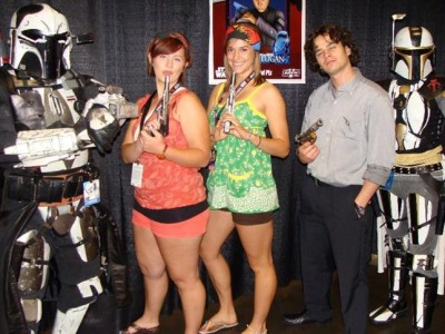 Guarding Daniel Logan from rabid fans together at Star Wars Celebration V in 2010
