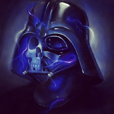 Star Wars Ride the Lightning Darth Vader by Steven Daily