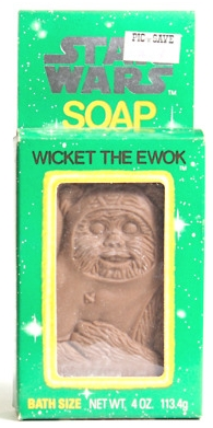 Star Wars soap -- Wicket the Ewok from 1983