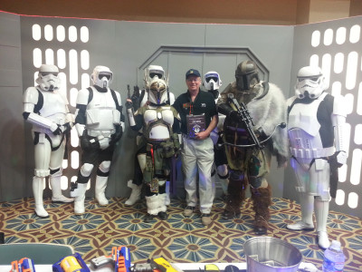 John Dak Morton with the 501st